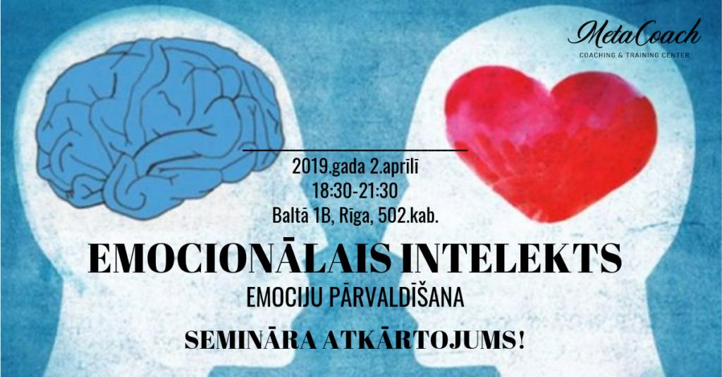 Emocionālais intelekts - emociju pārvaldīšana!