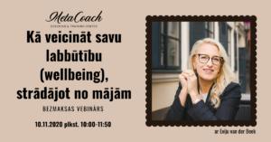 Kā veicināt savu labbūtību (wellbeing), strādājot no mājām