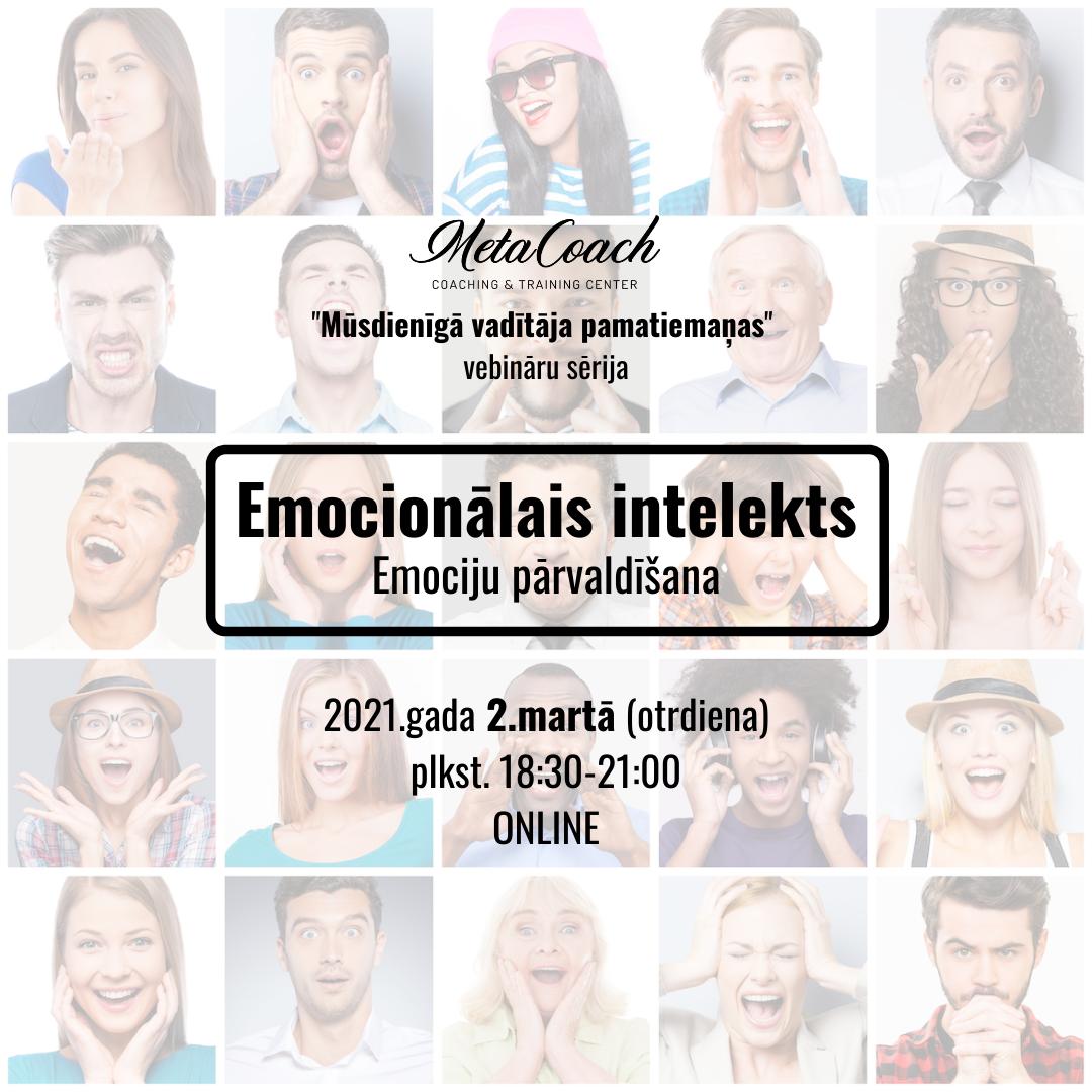 Emocionālais intelekts - Emociju pārvaldīšana