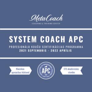 """Koučinga apmācību programma ar sertifikāciju """"System Coach APC"""""""