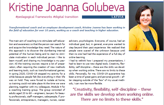 Йоанна Кристине Голубева в сборнике рассказов EPALE 2020! Гордимся!