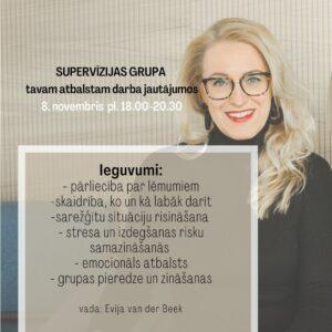 Supervīzijas grupa novembrī